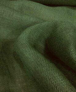 Tela de arpillera verde botella
