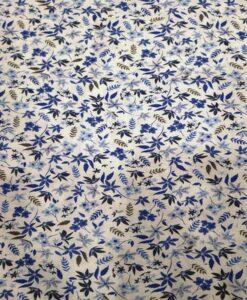 Tissu toucher de soie motif florales 10