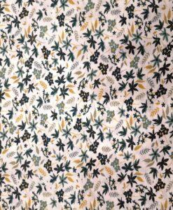 Tissu toucher de soie motif florales 3
