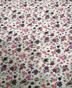 Tissu toucher de soie motif florales 7