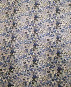 Tissu toucher de soie motif florales 8