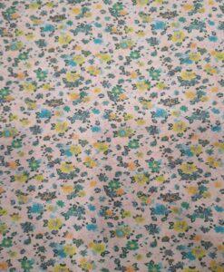 Tissu toucher de soie motif florales 9