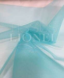 soft blue tulle fabric