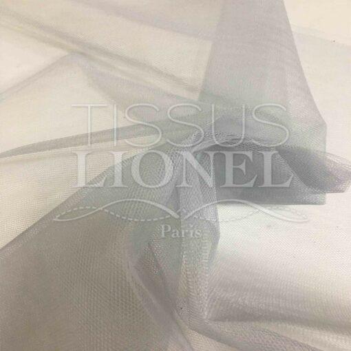 Tissu tulle souple gris clair