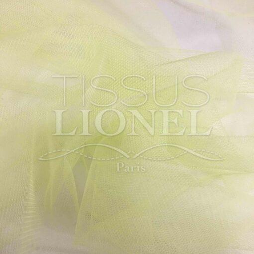 Tissu tulle souple jaune poussin