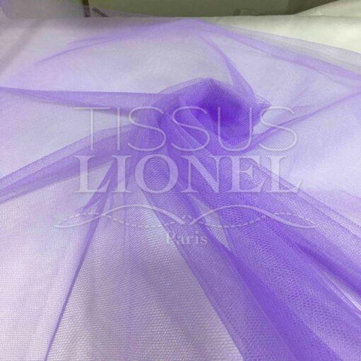 Tissu tulle souple lila
