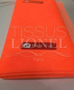 Tissu tulle souple orange fluo