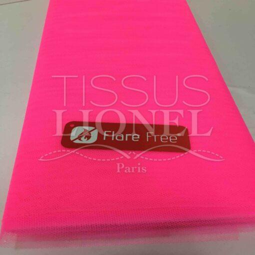 Tissu tulle souple rose fluo clai