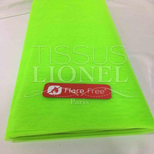 Tissu tulle souple vert fluo
