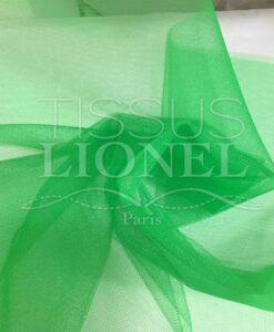 Tissu tulle souple vert gazon