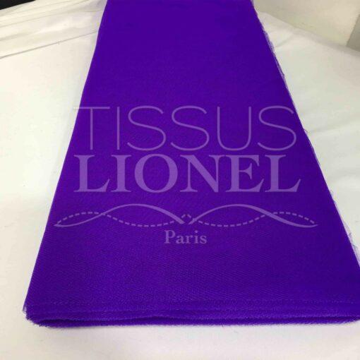 Tissu tulle souple violet