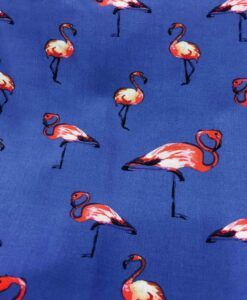 Fabric sailing viscose blue flamingo