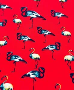 Fabric sailing viscose red flamingo