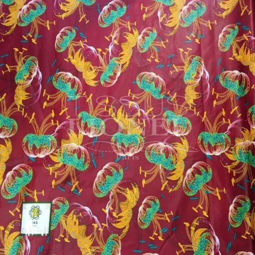 Tissu Wax Africain Coton Imprimé
