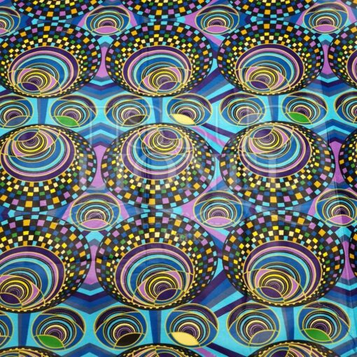 Tissu wax cercle disco