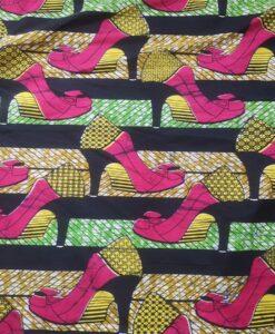 Tissu wax escarpin