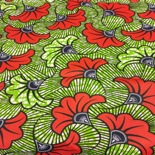 Tissu wax fleurs de mariage