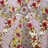 Tissu wax fleurs de mariage mixte