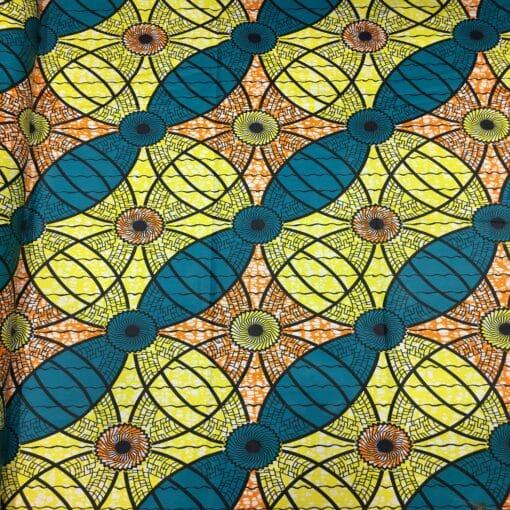 Tissu wax motif turbine
