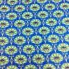 Tissu wax pailleté fleurs des marais