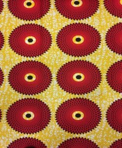 wax red sun Fabric