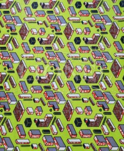 Tissu Wachs tetris