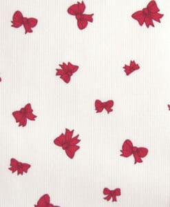 Tissus coton milleraies noeud framboise