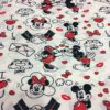 Tissus Disney Mickey et Minnie I love you 2