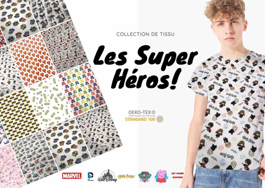 Tissus super heros