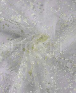 tulle bridal-white background glittery ecru