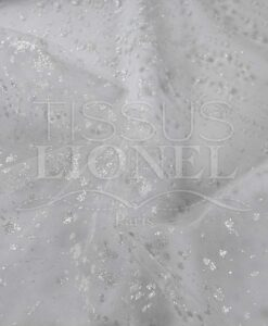 white tulle bridal glittery white background