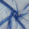 tul holograma fondo del brillo azul brillo de plata holograma