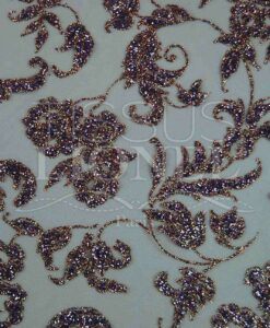 sequined tulle purple and gold