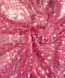 pink sequined tulle