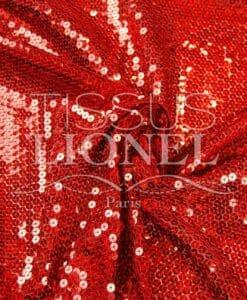 тюль красной голограммы блеска