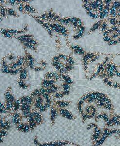 turchese e paillettes argento Tulle