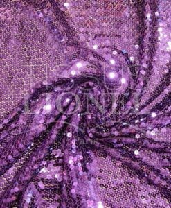 purple sequined tulle