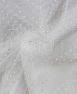 plumtié weißer Tüll weißen Punkte