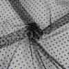 tulle plumtié fond noir points noire