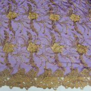 tulle robrode Cléopâtre violet et or