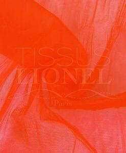 tulle souple orange fluo