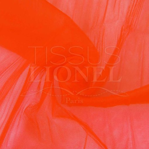 tulle souple orange fluo