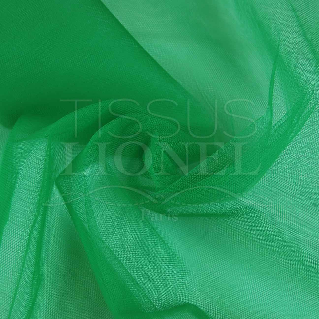 tulle souple vert sapin tissus lionel. Black Bedroom Furniture Sets. Home Design Ideas
