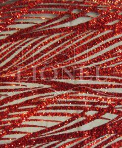 tulle splendide série 3 fond noir pailleté rouge
