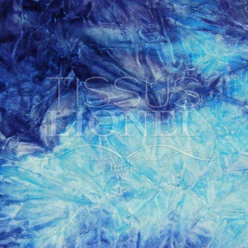 velour dégradé bleu ciel et bleu royal