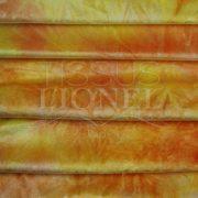velour dégradé jaune et orange pailleté or