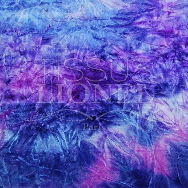 velour dégradé violet, fushia bleu