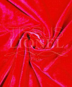 velour lisse changeant rouge et cerise