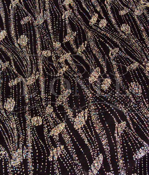 velour milliardair fond noir pailleté multicolor