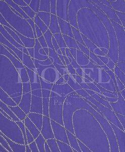 Samt Pailletten lila glitzernd Silber Kreis